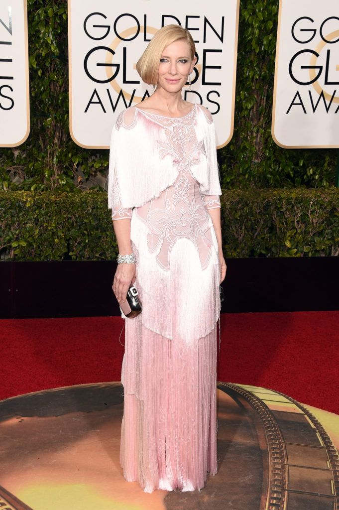 BEVERLY HILLS, CA - JANUARY 10:  Actress Cate Blanchett attends the 73rd Annual Golden Globe Awards held at the Beverly Hilton Hotel on January 10, 2016 in Beverly Hills, California.  (Photo by Jason Merritt/Getty Images)