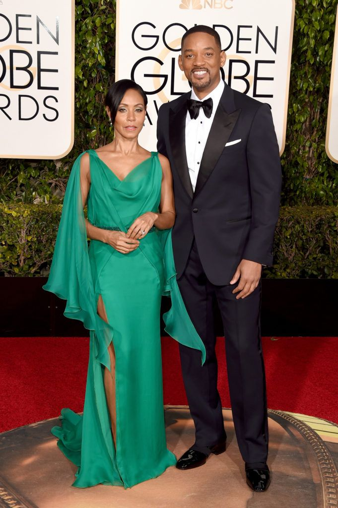 BEVERLY HILLS, CA - JANUARY 10:  Actors Jada Pinkett Smith and Will Smith attend the 73rd Annual Golden Globe Awards held at the Beverly Hilton Hotel on January 10, 2016 in Beverly Hills, California.  (Photo by Jason Merritt/Getty Images)