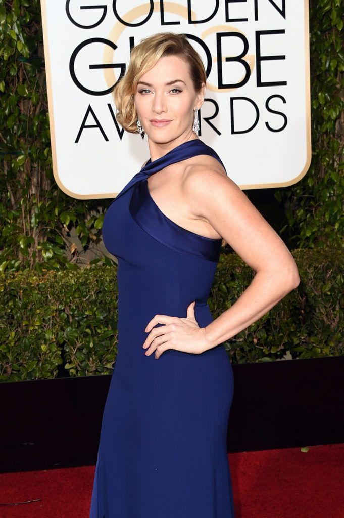 BEVERLY HILLS, CA - JANUARY 10:  Actress Kate Winslet attends the 73rd Annual Golden Globe Awards held at the Beverly Hilton Hotel on January 10, 2016 in Beverly Hills, California.  (Photo by Jason Merritt/Getty Images)