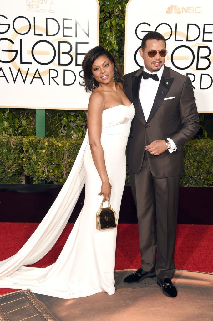 BEVERLY HILLS, CA - JANUARY 10:  Actors Taraji P. Henson (L) and Terrence Howard attend the 73rd Annual Golden Globe Awards held at the Beverly Hilton Hotel on January 10, 2016 in Beverly Hills, California.  (Photo by Jason Merritt/Getty Images)