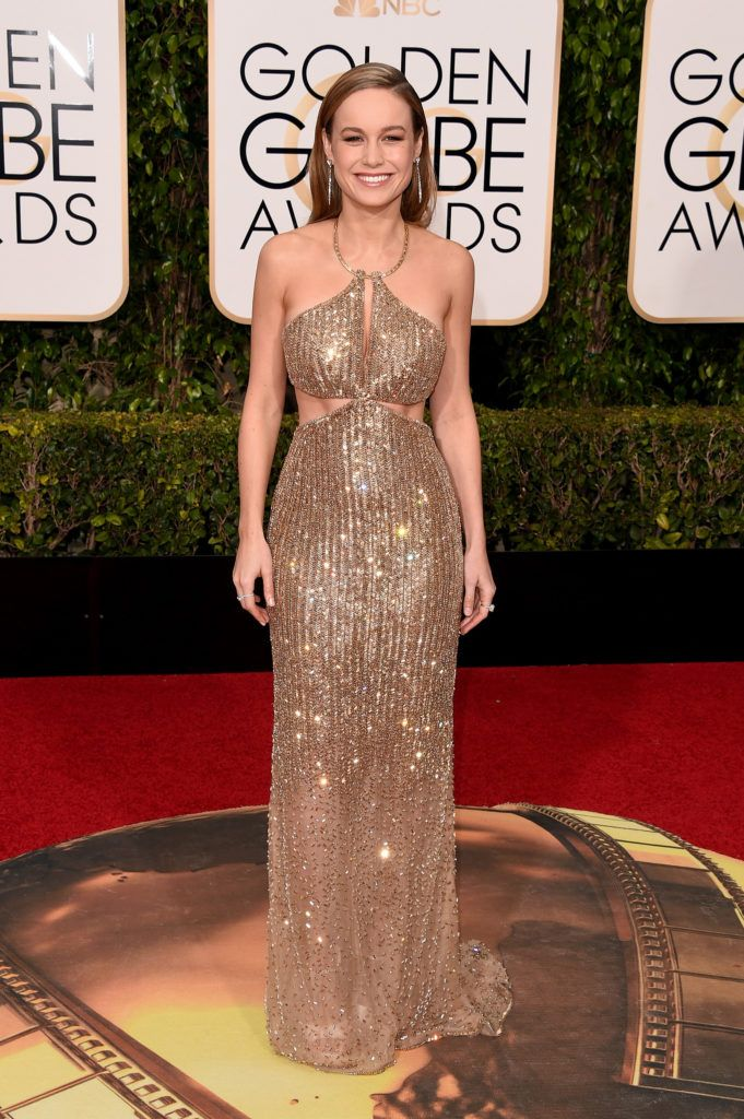 BEVERLY HILLS, CA - JANUARY 10:  Actress Brie Larson attends the 73rd Annual Golden Globe Awards held at the Beverly Hilton Hotel on January 10, 2016 in Beverly Hills, California.  (Photo by Jason Merritt/Getty Images)