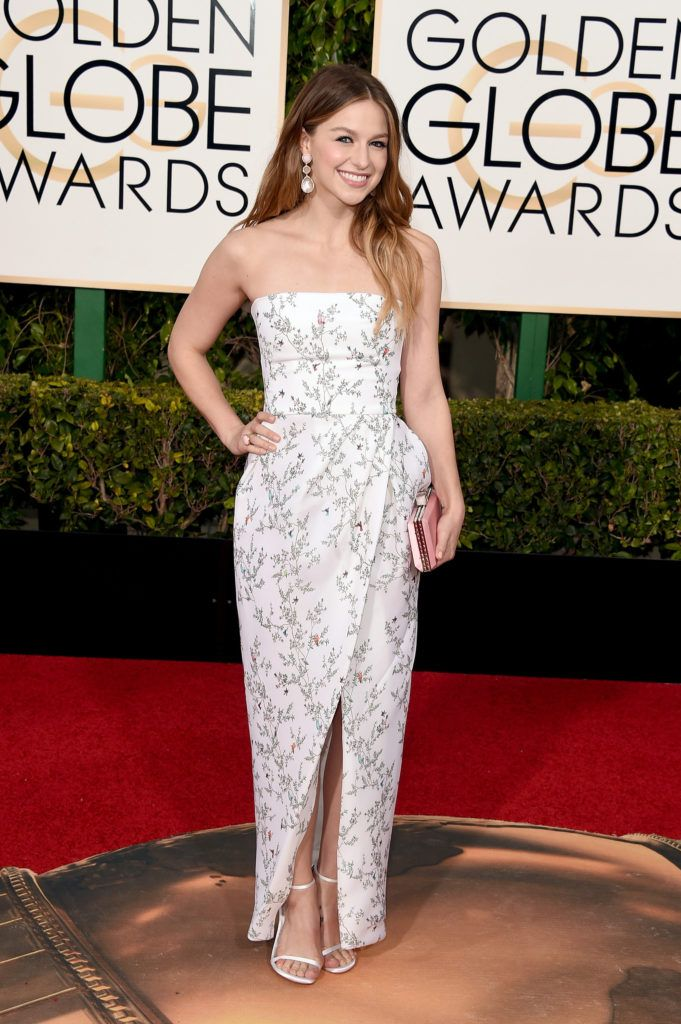 BEVERLY HILLS, CA - JANUARY 10:  Actress Melissa Benoist attends the 73rd Annual Golden Globe Awards held at the Beverly Hilton Hotel on January 10, 2016 in Beverly Hills, California.  (Photo by Jason Merritt/Getty Images)
