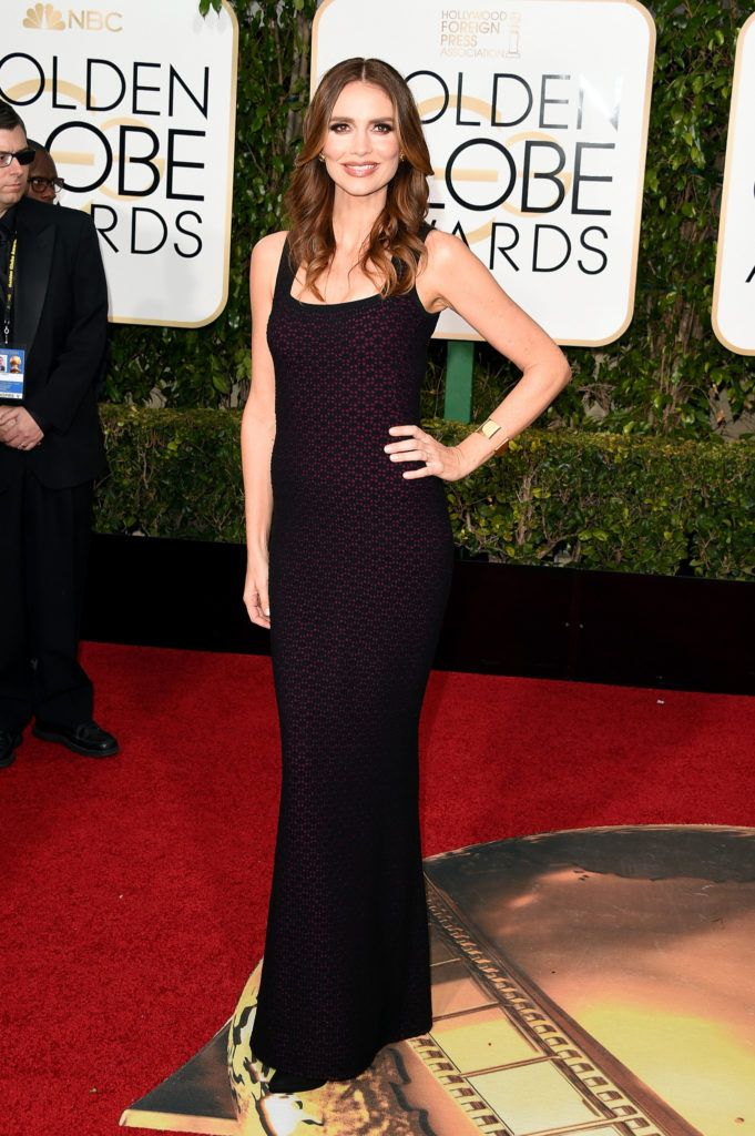 BEVERLY HILLS, CA - JANUARY 10:  Actress Saffron Burrows attends the 73rd Annual Golden Globe Awards held at the Beverly Hilton Hotel on January 10, 2016 in Beverly Hills, California.  (Photo by Jason Merritt/Getty Images)