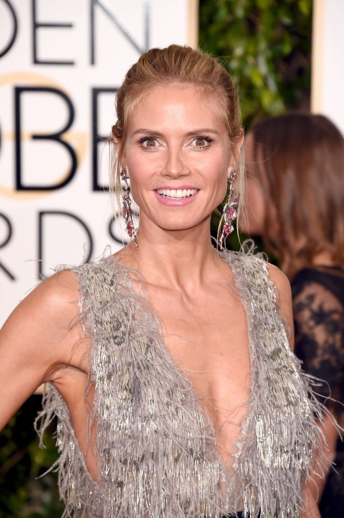 BEVERLY HILLS, CA - JANUARY 10:  Heidi Klum attends the 73rd Annual Golden Globe Awards held at the Beverly Hilton Hotel on January 10, 2016 in Beverly Hills, California.  (Photo by Jason Merritt/Getty Images)