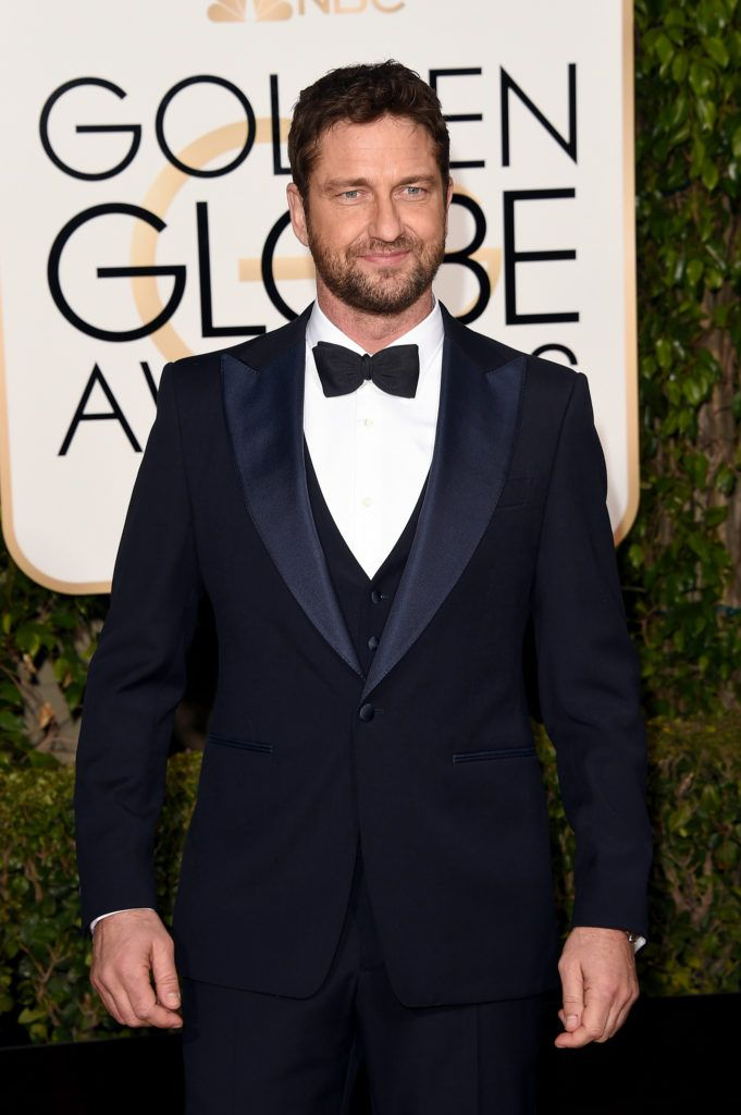 BEVERLY HILLS, CA - JANUARY 10:  Actor Gerard Butler attends the 73rd Annual Golden Globe Awards held at the Beverly Hilton Hotel on January 10, 2016 in Beverly Hills, California.  (Photo by Jason Merritt/Getty Images)
