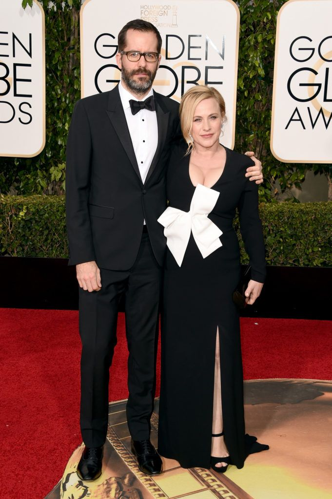 BEVERLY HILLS, CA - JANUARY 10:  Artist Eric White and actress Patricia Arquette attend the 73rd Annual Golden Globe Awards held at the Beverly Hilton Hotel on January 10, 2016 in Beverly Hills, California.  (Photo by Jason Merritt/Getty Images)