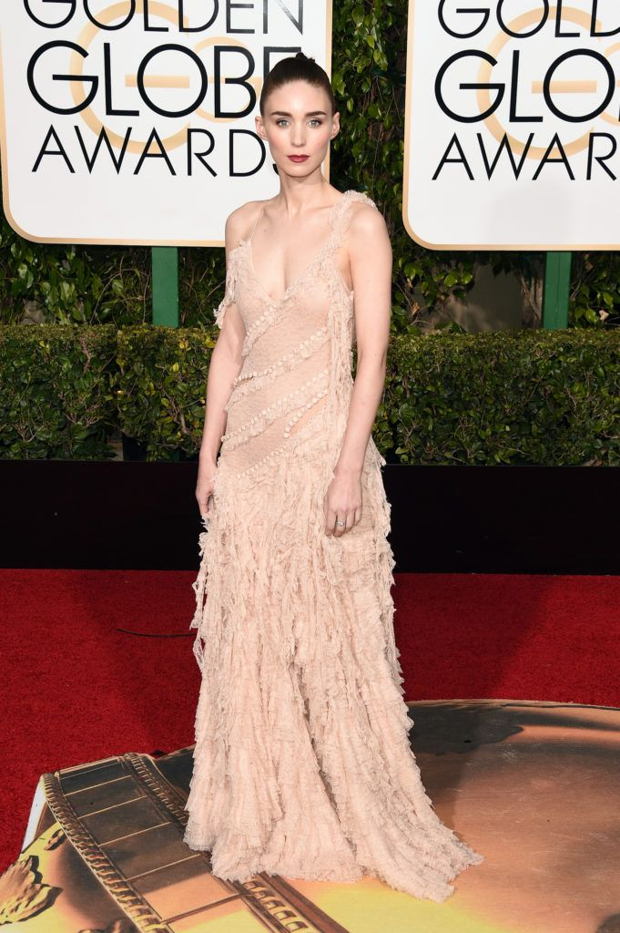 BEVERLY HILLS, CA - JANUARY 10:  Actress Rooney Mara attends the 73rd Annual Golden Globe Awards held at the Beverly Hilton Hotel on January 10, 2016 in Beverly Hills, California.  (Photo by Jason Merritt/Getty Images)