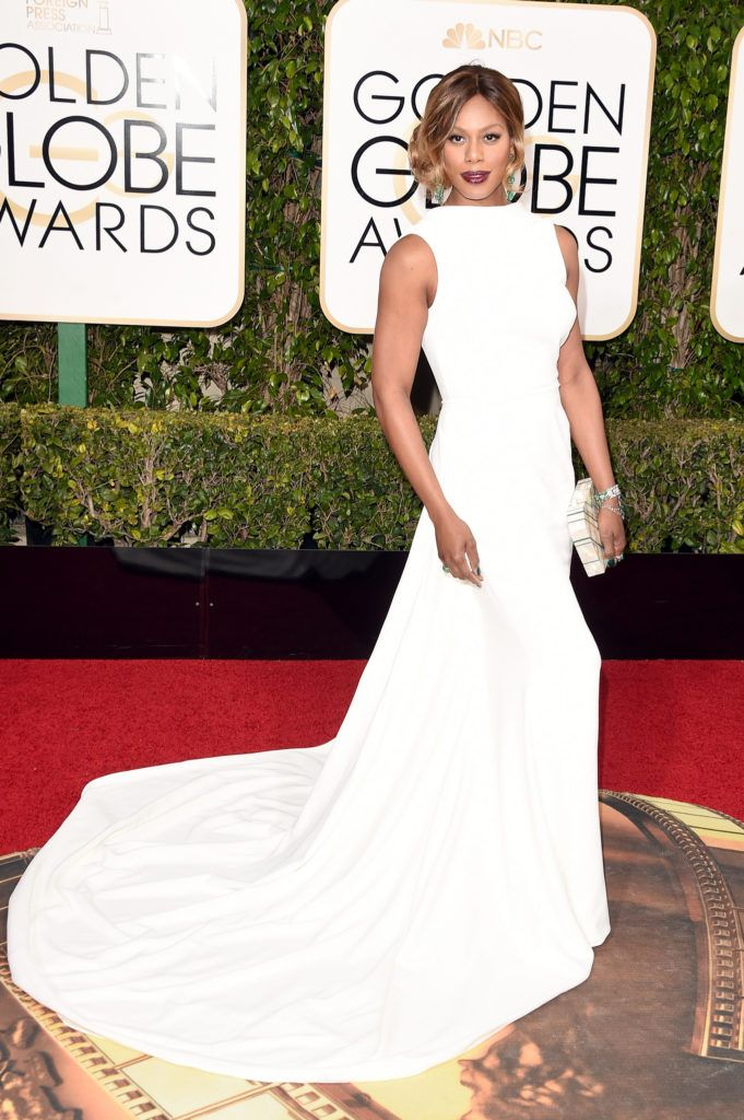 BEVERLY HILLS, CA - JANUARY 10:  Actress Laverne Cox attends the 73rd Annual Golden Globe Awards held at the Beverly Hilton Hotel on January 10, 2016 in Beverly Hills, California.  (Photo by Jason Merritt/Getty Images)