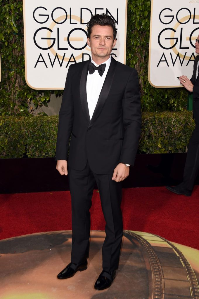 BEVERLY HILLS, CA - JANUARY 10:  Actor Orlando Bloom attends the 73rd Annual Golden Globe Awards held at the Beverly Hilton Hotel on January 10, 2016 in Beverly Hills, California.  (Photo by Jason Merritt/Getty Images)