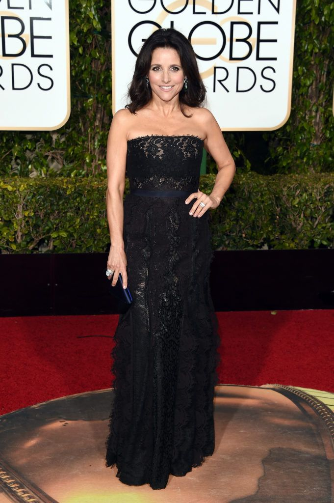 BEVERLY HILLS, CA - JANUARY 10:  Actress Julia Louis-Dreyfus attends the 73rd Annual Golden Globe Awards held at the Beverly Hilton Hotel on January 10, 2016 in Beverly Hills, California.  (Photo by Jason Merritt/Getty Images)