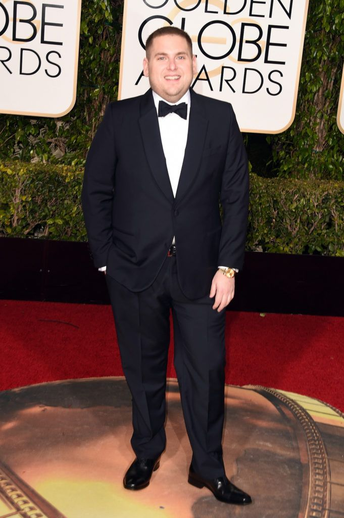 BEVERLY HILLS, CA - JANUARY 10:  Actor Jonah Hill attends the 73rd Annual Golden Globe Awards held at the Beverly Hilton Hotel on January 10, 2016 in Beverly Hills, California.  (Photo by Jason Merritt/Getty Images)