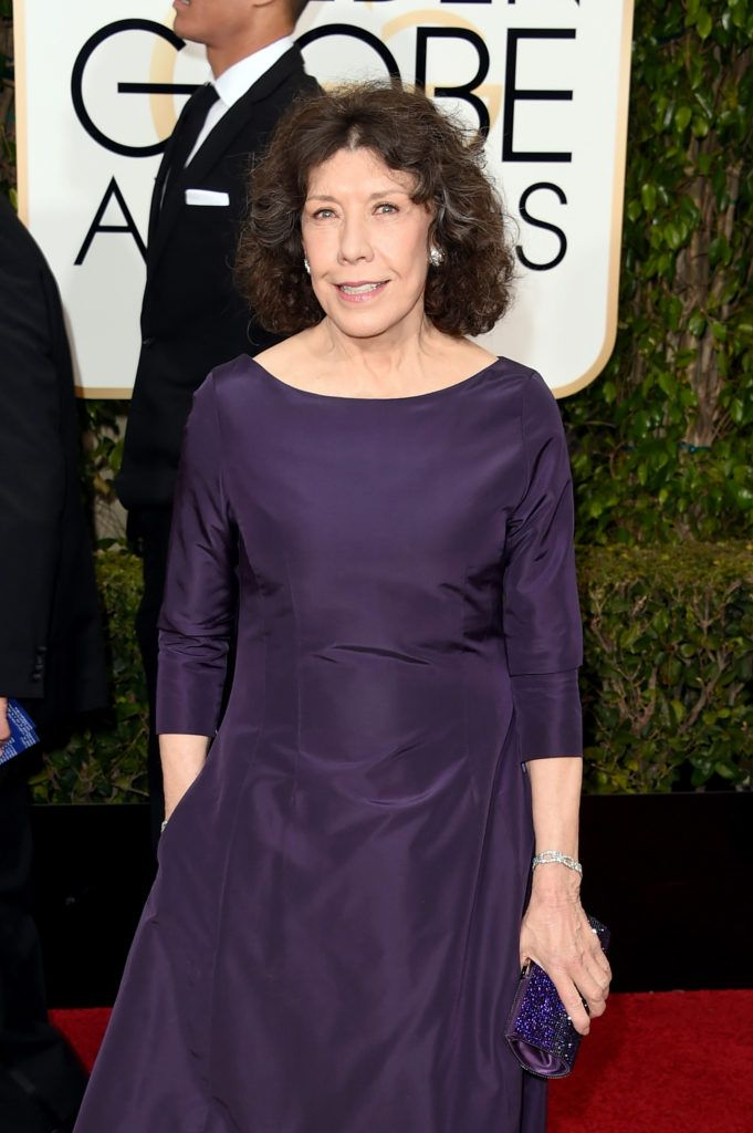 BEVERLY HILLS, CA - JANUARY 10:  Actress Lily Tomlin attends the 73rd Annual Golden Globe Awards held at the Beverly Hilton Hotel on January 10, 2016 in Beverly Hills, California.  (Photo by Jason Merritt/Getty Images)