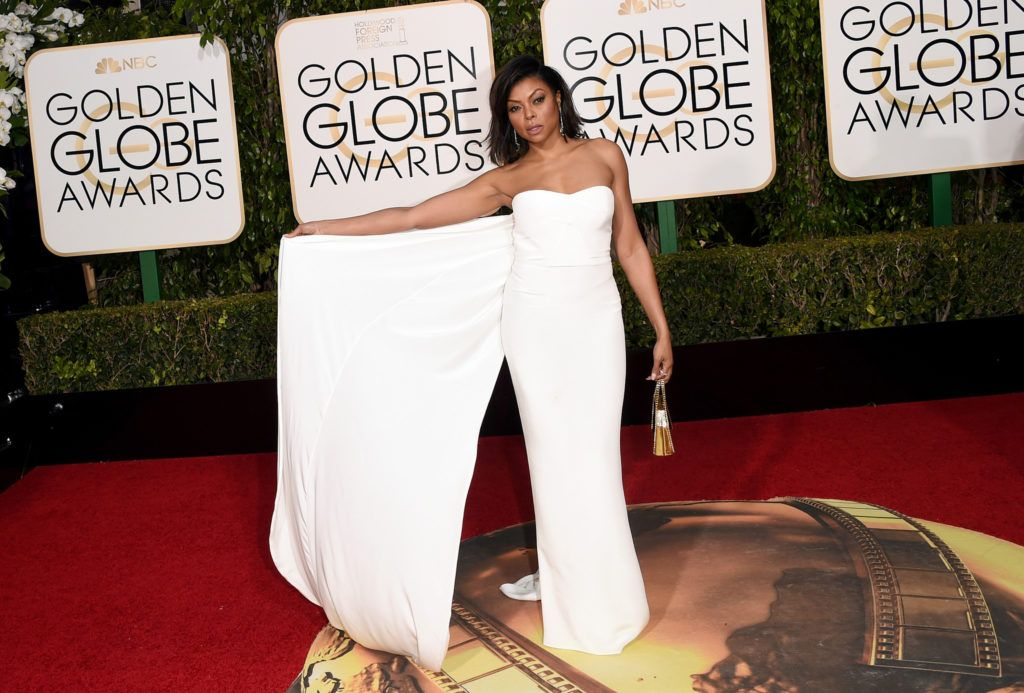 BEVERLY HILLS, CA - JANUARY 10:  Actress Taraji P. Henson attends the 73rd Annual Golden Globe Awards held at the Beverly Hilton Hotel on January 10, 2016 in Beverly Hills, California.  (Photo by Jason Merritt/Getty Images)