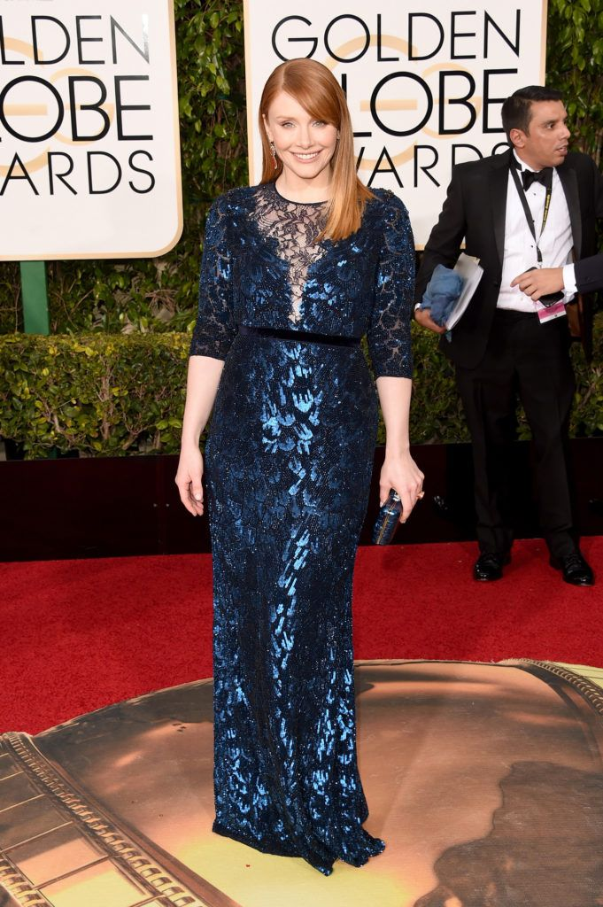 BEVERLY HILLS, CA - JANUARY 10:  Actress Bryce Dallas Howard attends the 73rd Annual Golden Globe Awards held at the Beverly Hilton Hotel on January 10, 2016 in Beverly Hills, California.  (Photo by Jason Merritt/Getty Images)