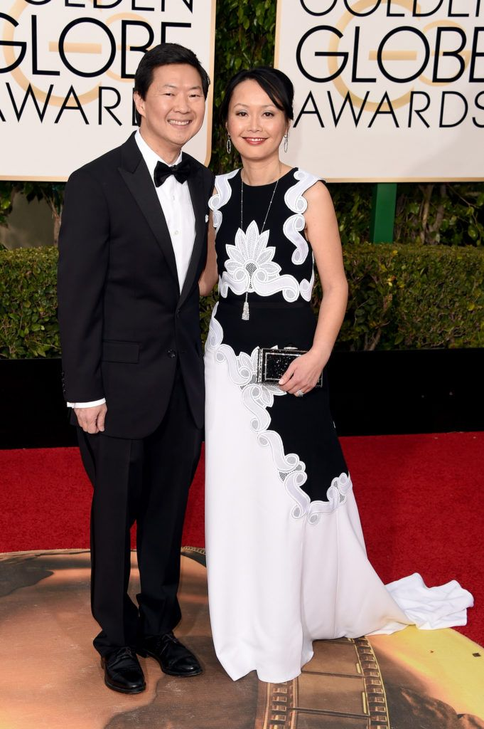 BEVERLY HILLS, CA - JANUARY 10:  Actor Ken Jeong and Tran Jeong attend the 73rd Annual Golden Globe Awards held at the Beverly Hilton Hotel on January 10, 2016 in Beverly Hills, California.  (Photo by Jason Merritt/Getty Images)