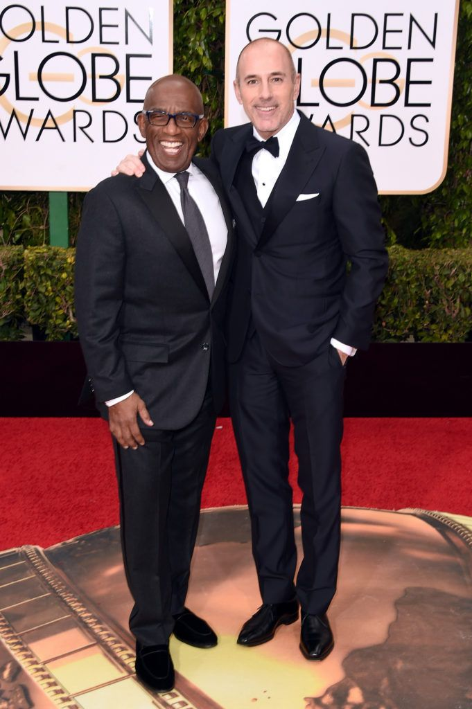 BEVERLY HILLS, CA - JANUARY 10:  TV personalities Al Roker (L) and Matt Lauer attend the 73rd Annual Golden Globe Awards held at the Beverly Hilton Hotel on January 10, 2016 in Beverly Hills, California.  (Photo by Jason Merritt/Getty Images)