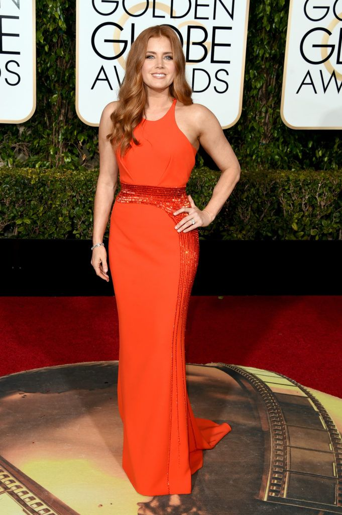 BEVERLY HILLS, CA - JANUARY 10:  Actress Amy Adams attends the 73rd Annual Golden Globe Awards held at the Beverly Hilton Hotel on January 10, 2016 in Beverly Hills, California.  (Photo by Jason Merritt/Getty Images)