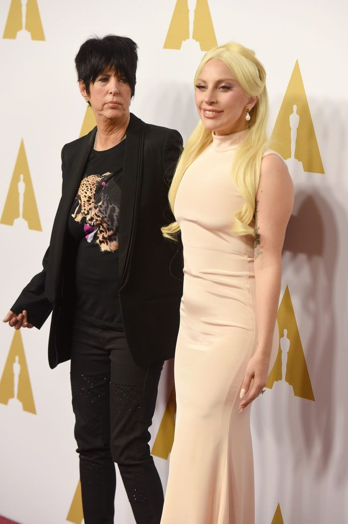 BEVERLY HILLS, CA - FEBRUARY 08:  Songwriter Diane Warren (L) and singer-songwriter Lady Gaga attend the 88th Annual Academy Awards nominee luncheon on February 8, 2016 in Beverly Hills, California.  (Photo by Kevin Winter/Getty Images)