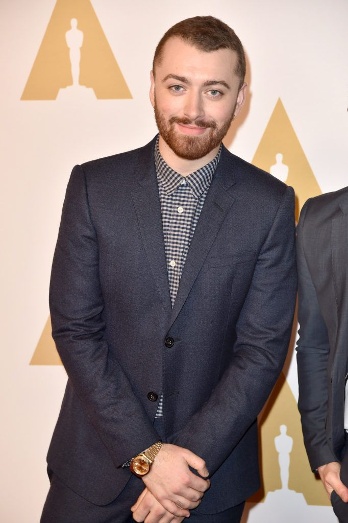 BEVERLY HILLS, CA - FEBRUARY 08:  Singer-songwriter Sam Smith attends the 88th Annual Academy Awards nominee luncheon on February 8, 2016 in Beverly Hills, California.  (Photo by Kevin Winter/Getty Images)
