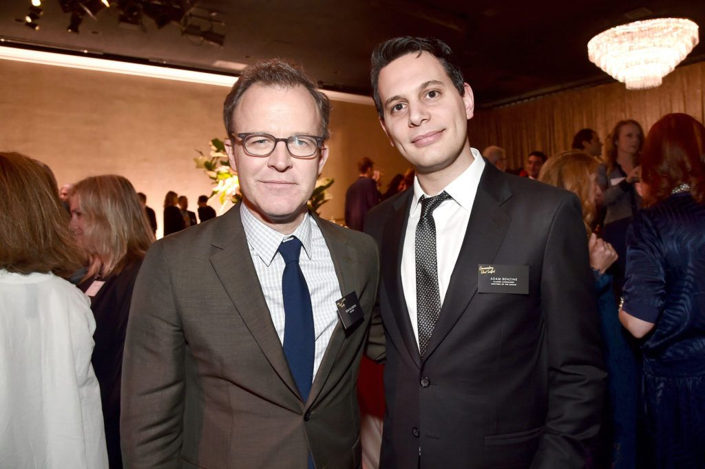 BEVERLY HILLS, CA - FEBRUARY 08: Director/screenwriters Tom McCarthy (L) and Adam Benzine attend the 88th Annual Academy Awards nominee luncheon on February 8, 2016 in Beverly Hills, California.  (Photo by Alberto E. Rodriguez/Getty Images)