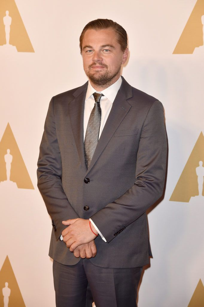 BEVERLY HILLS, CA - FEBRUARY 08:  Actor Leonardo DiCaprio attends the 88th Annual Academy Awards nominee luncheon on February 8, 2016 in Beverly Hills, California.  (Photo by Kevin Winter/Getty Images)