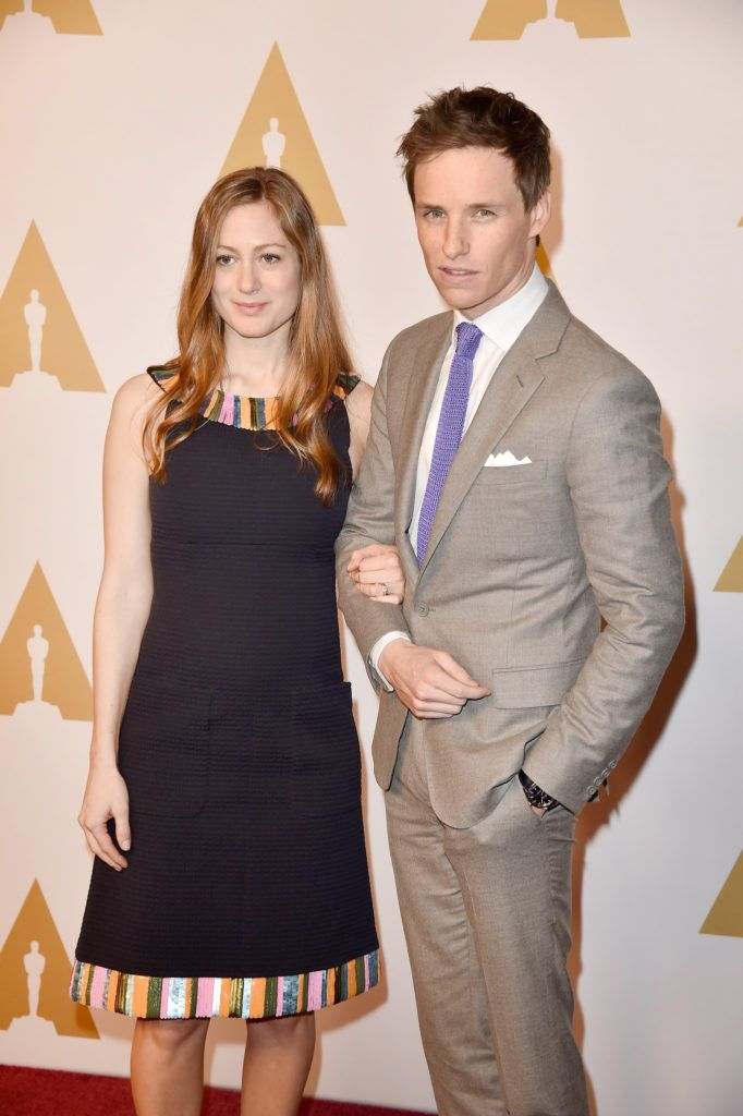 BEVERLY HILLS, CA - FEBRUARY 08:  Actor Eddie Redmayne (R) and Hannah Bagshawe attend the 88th Annual Academy Awards nominee luncheon on February 8, 2016 in Beverly Hills, California.  (Photo by Kevin Winter/Getty Images)