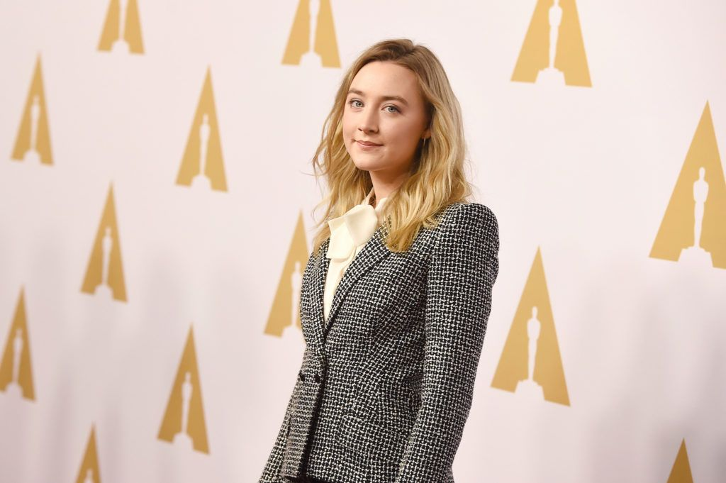 BEVERLY HILLS, CA - FEBRUARY 08:  Actress Saoirse Ronan attends the 88th Annual Academy Awards nominee luncheon on February 8, 2016 in Beverly Hills, California.  (Photo by Kevin Winter/Getty Images)