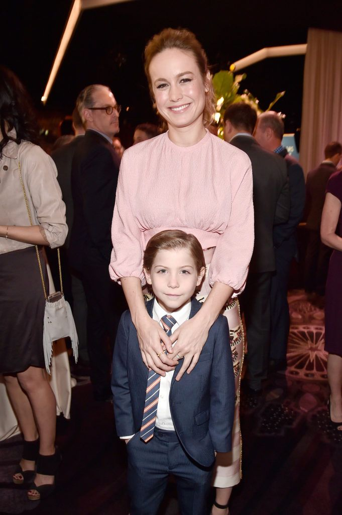 BEVERLY HILLS, CA - FEBRUARY 08:  Actors Brie Larson (top) and Jacob Tremblay attend the 88th Annual Academy Awards nominee luncheon on February 8, 2016 in Beverly Hills, California.  (Photo by Alberto E. Rodriguez/Getty Images)