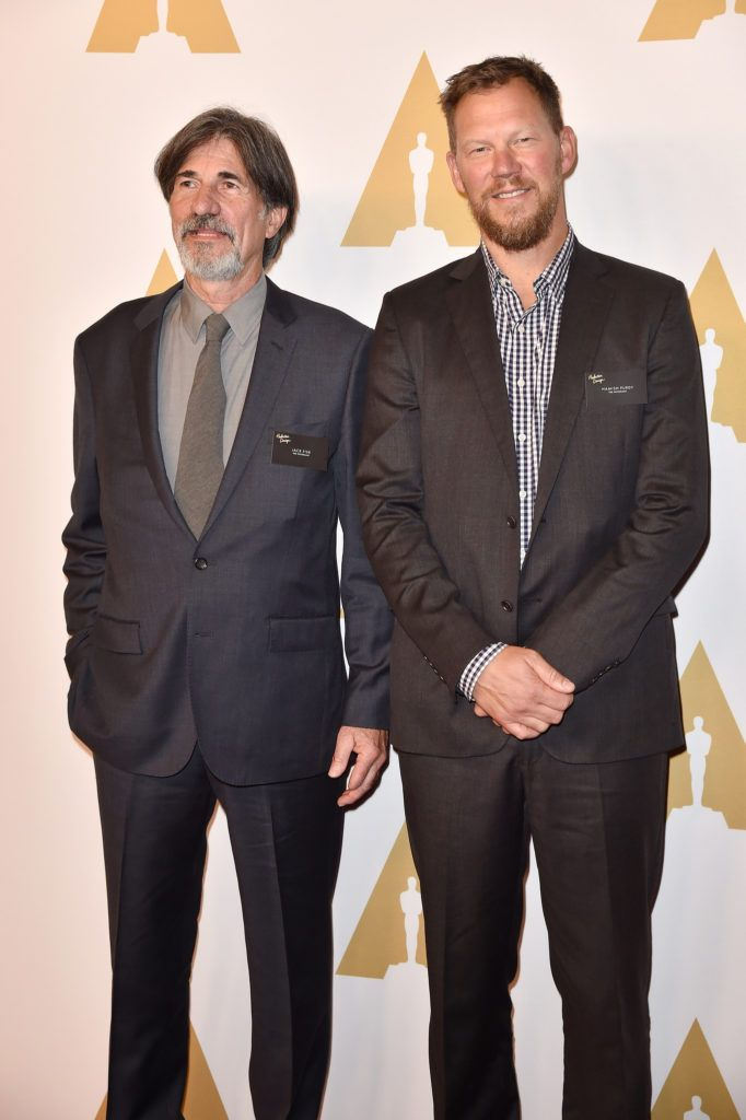 BEVERLY HILLS, CA - FEBRUARY 08:  Production designer Jack Fisk (L) and art director Hamish Purdy attend the 88th Annual Academy Awards nominee luncheon on February 8, 2016 in Beverly Hills, California.  (Photo by Kevin Winter/Getty Images)