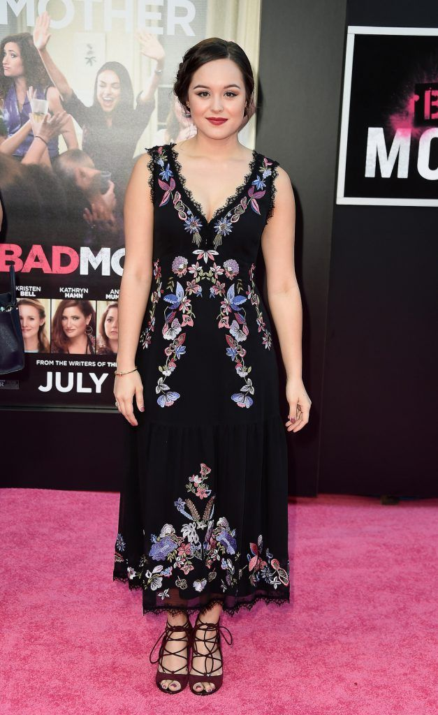 "Hayley Orrantia attends the premiere of STX Entertainment's ""Bad Moms"" at Mann Village Theatre on July 26, 2016 (Photo by Frazer Harrison/Getty Images)"