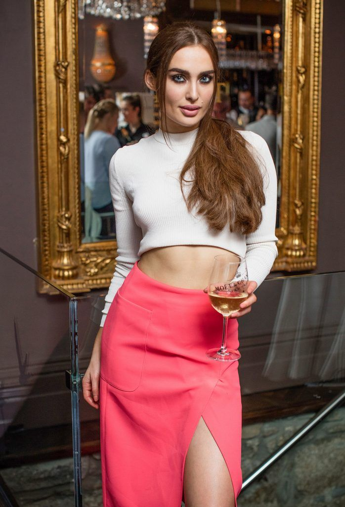Roz Purcell pictured enjoying Moët Party Day in Dublin. Moët Party Day was a worldwide event that took place over 24 hours on Saturday, 11th June, starting in New Zealand and ending in Mexico #MoetPartyDay. Photo: Anthony Woods