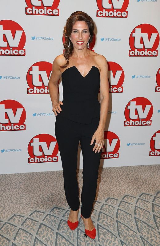 Gaynor Faye arrives for the TV Choice Awards at The Dorchester on September 5, 2016 in London, England. (Photo by Chris Jackson/Getty Images)