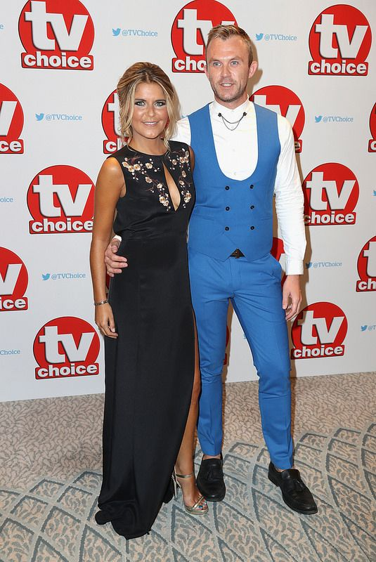 Gemma Oaten and Joff Powell arrive for the TV Choice Awards at The Dorchester on September 5, 2016 in London, England. (Photo by Chris Jackson/Getty Images)