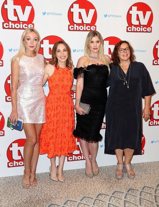 Helen George, Laura Main, Emerald Fennell and Annabelle Apsion arrive for the TV Choice Awards at The Dorchester on September 5, 2016 in London, England. (Photo by Chris Jackson/Getty Images)