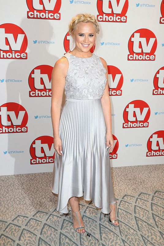 Amy Walsh arrives for the TV Choice Awards at The Dorchester on September 5, 2016 in London, England. (Photo by Chris Jackson/Getty Images)