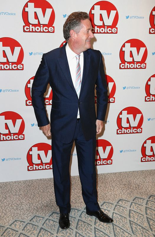 Piers Morgan arrives for the TV Choice Awards at The Dorchester on September 5, 2016 in London, England. (Photo by Chris Jackson/Getty Images)