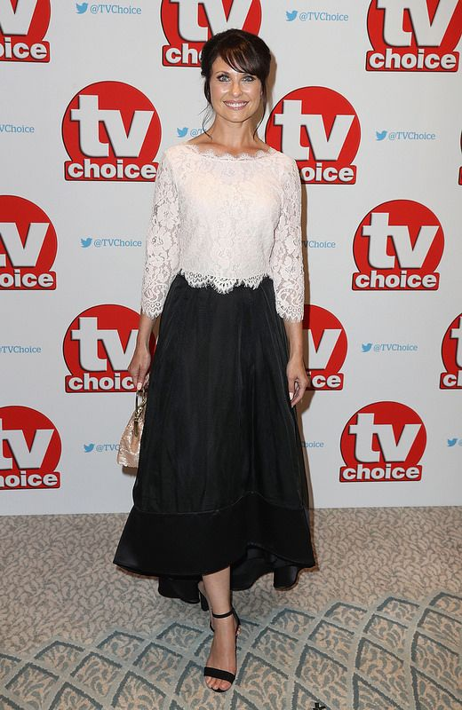 Emma Barton arrives for the TV Choice Awards at The Dorchester on September 5, 2016 in London, England. (Photo by Chris Jackson/Getty Images)