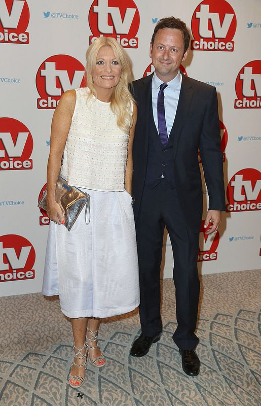 Gaby Roslin and Matt Allwright arrive for the TV Choice Awards at The Dorchester on September 5, 2016 in London, England. (Photo by Chris Jackson/Getty Images)