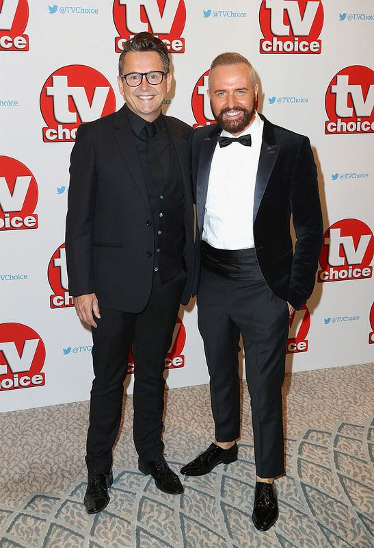 Simon Webb and Christopher Steed arrive for the TV Choice Awards at The Dorchester on September 5, 2016 in London, England. (Photo by Chris Jackson/Getty Images)