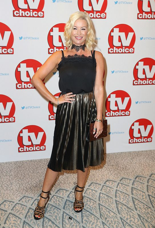 Denise van Outen arrives for the TV Choice Awards at The Dorchester on September 5, 2016 in London, England. (Photo by Chris Jackson/Getty Images)
