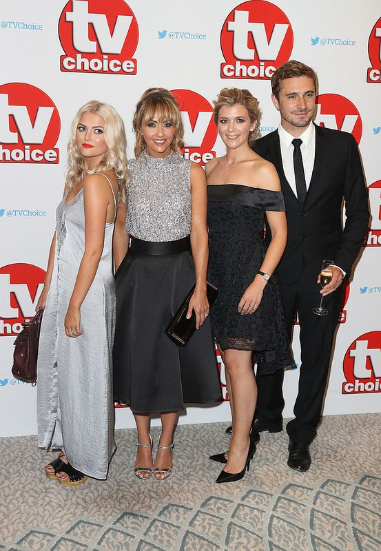 Lucy Fallon, Samia Ghadie, Jane Danson and Oliver Farnworth arrive for the TV Choice Awards at The Dorchester on September 5, 2016 in London, England. (Photo by Chris Jackson/Getty Images)