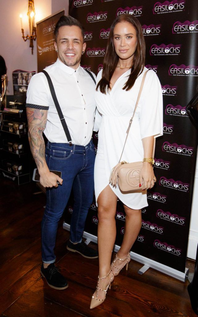 Joseph Ramos and Joanne  Larby pictured at the launch of Easilocks Home Care Range in the Cliff Townhouse, Dublin. Previously only available in Salons Easilocks will now be available in pharmacies nationwide. Picture Andres Poveda