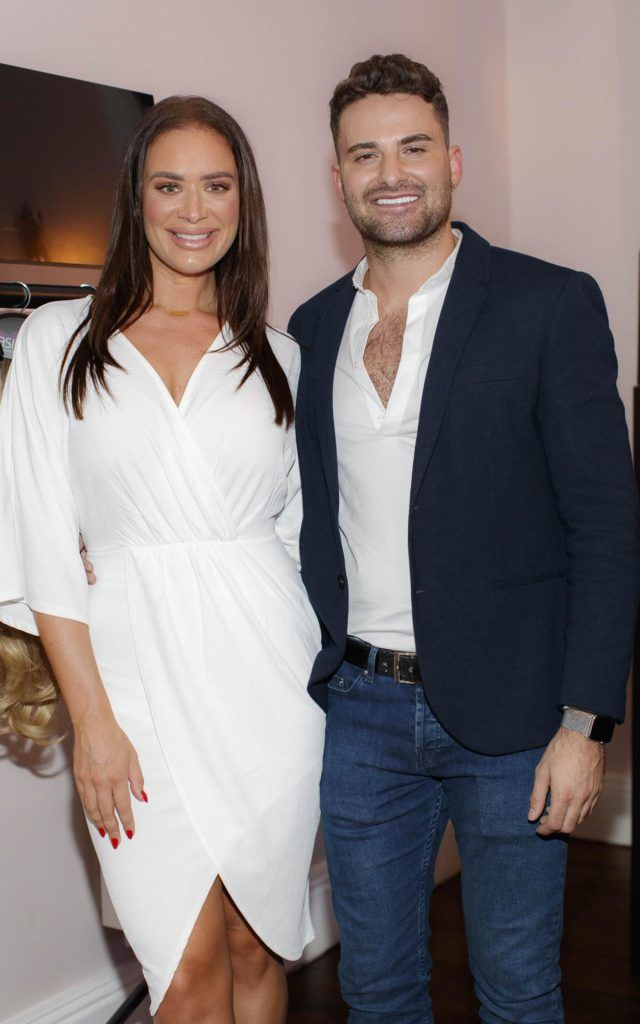 Joanne Larby pictured with International Award winning Irish entrepreneur Shane O'Sullivan is pictured launching Easilocks Home Care Range in the Cliff Townhouse, Dublin. Previously only available in Salons Easilocks will now be available in pharmacies nationwide. Picture Andres Poveda