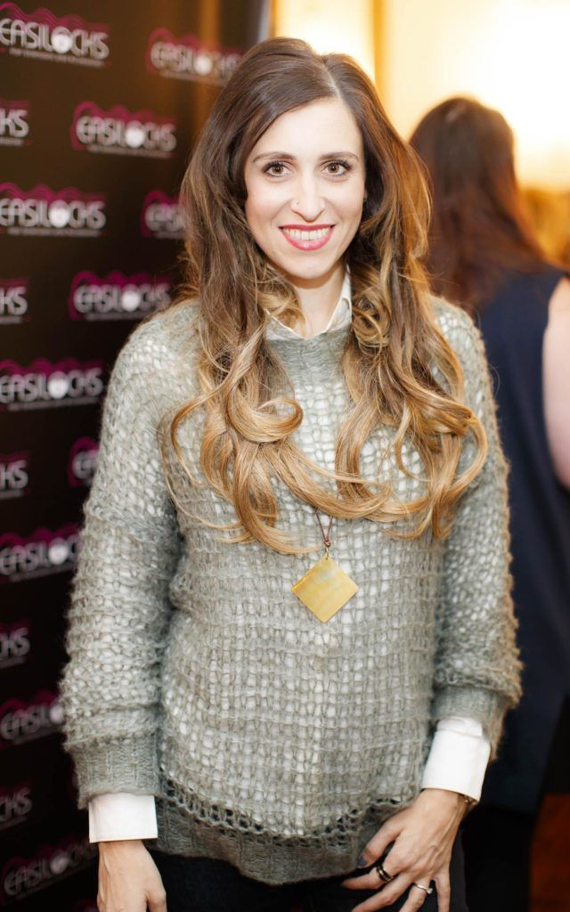 Kassi Cheirogeorgou pictured at the launch of Easilocks Home Care Range in the Cliff Townhouse, Dublin. Previously only available in Salons Easilocks will now be available in pharmacies nationwide. Picture Andres Poveda