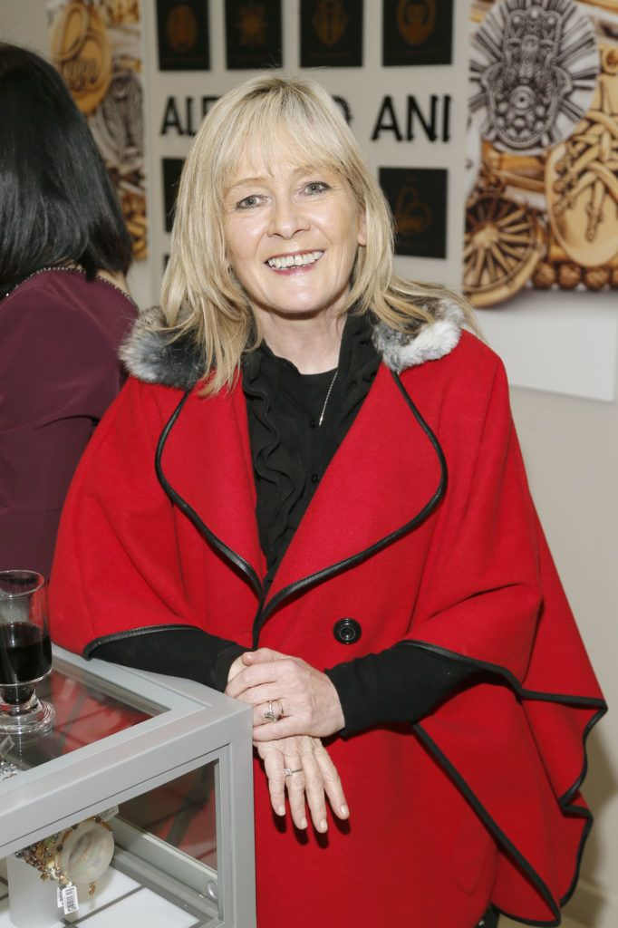 Emily Filgate at the launch of the newly refurbished Fashion Room at Weir & Sons, Grafton Street-photo Kieran Harnett