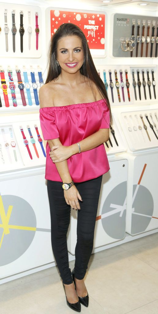 Emily O'Donnell at the launch of the newly refurbished Fashion Room at Weir & Sons, Grafton Street-photo Kieran Harnett