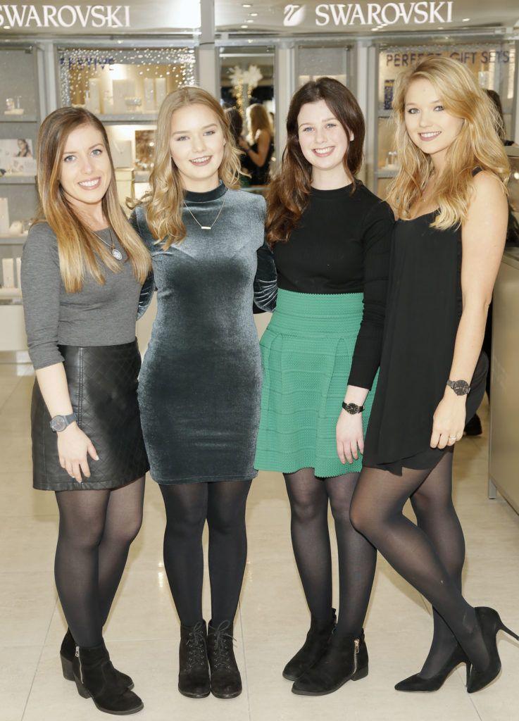 Anita O'Sullivan, Andra Laande, Shannon Hayes and Bri Laande at the launch of the newly refurbished Fashion Room at Weir & Sons, Grafton Street-photo Kieran Harnett