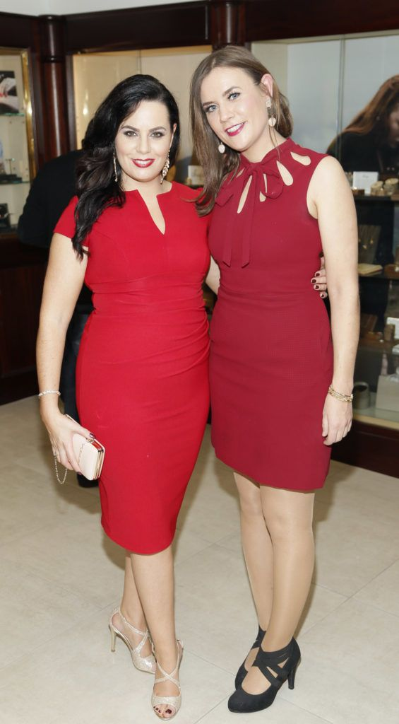Audrey McGrath and Siobhan Ryan at the launch of the newly refurbished Fashion Room at Weir & Sons, Grafton Street-photo Kieran Harnett