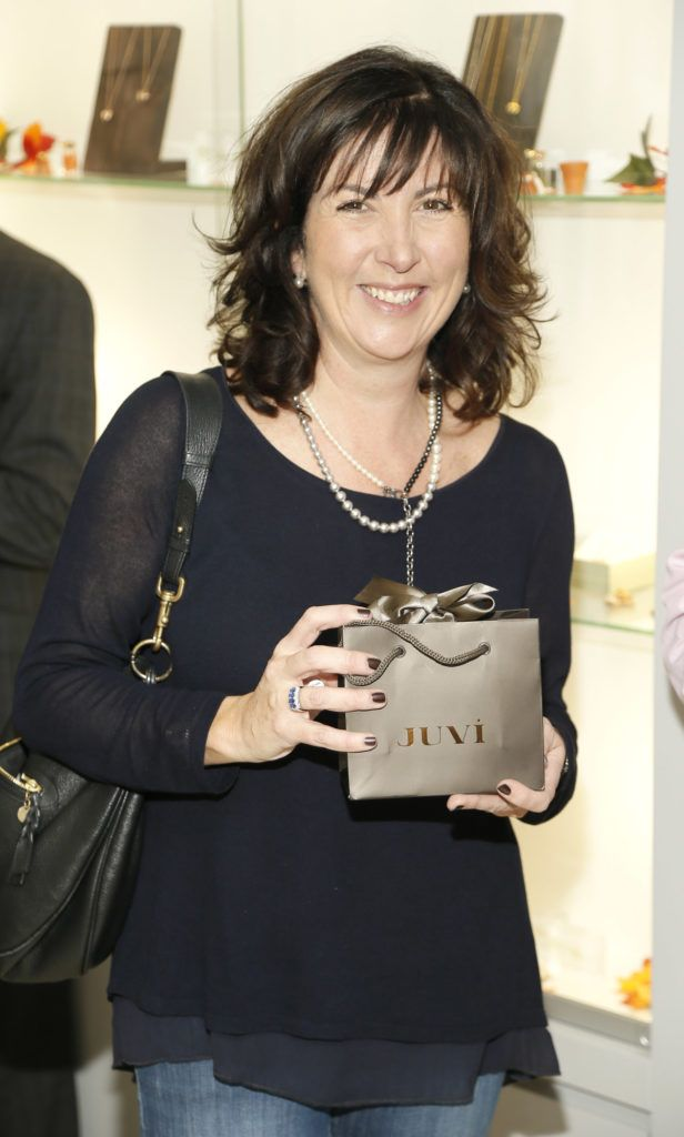 Fiona Whouley at the launch of the newly refurbished Fashion Room at Weir & Sons, Grafton Street-photo Kieran Harnett