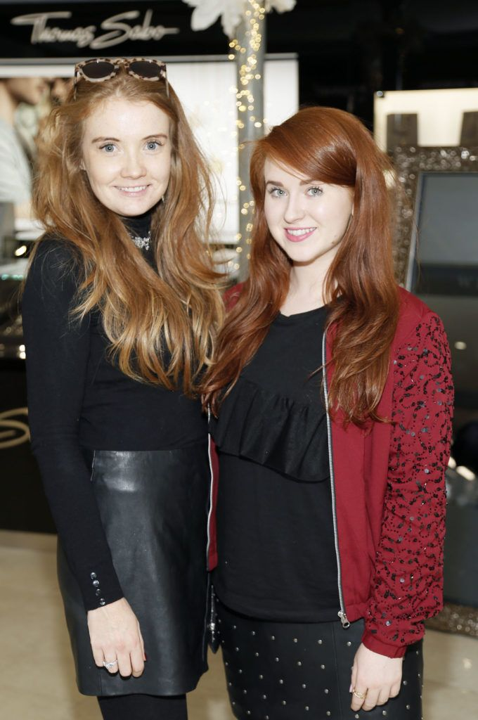 Laura Jordan and Kate Kelly at the launch of the newly refurbished Fashion Room at Weir & Sons, Grafton Street-photo Kieran Harnett